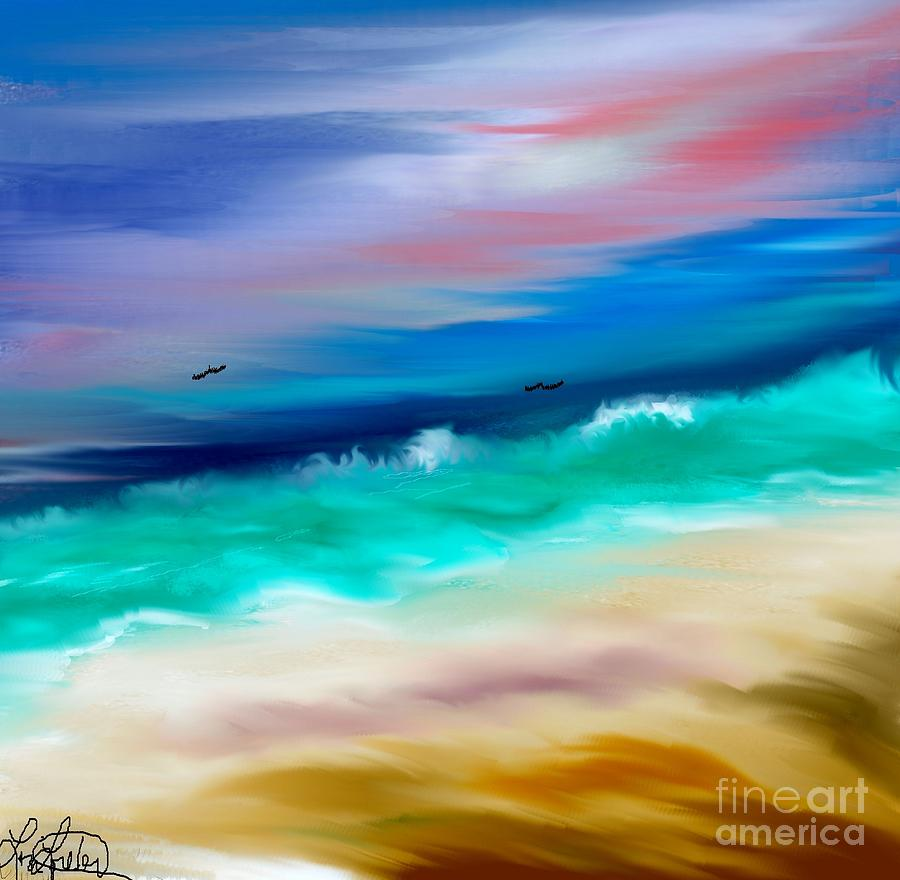 Ocean Digital Art - Brighter Days by Lori  Lovetere