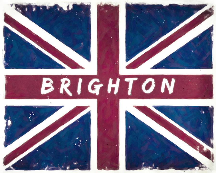 Brighton Distressed Union Jack Flag Digital Art By Mark E