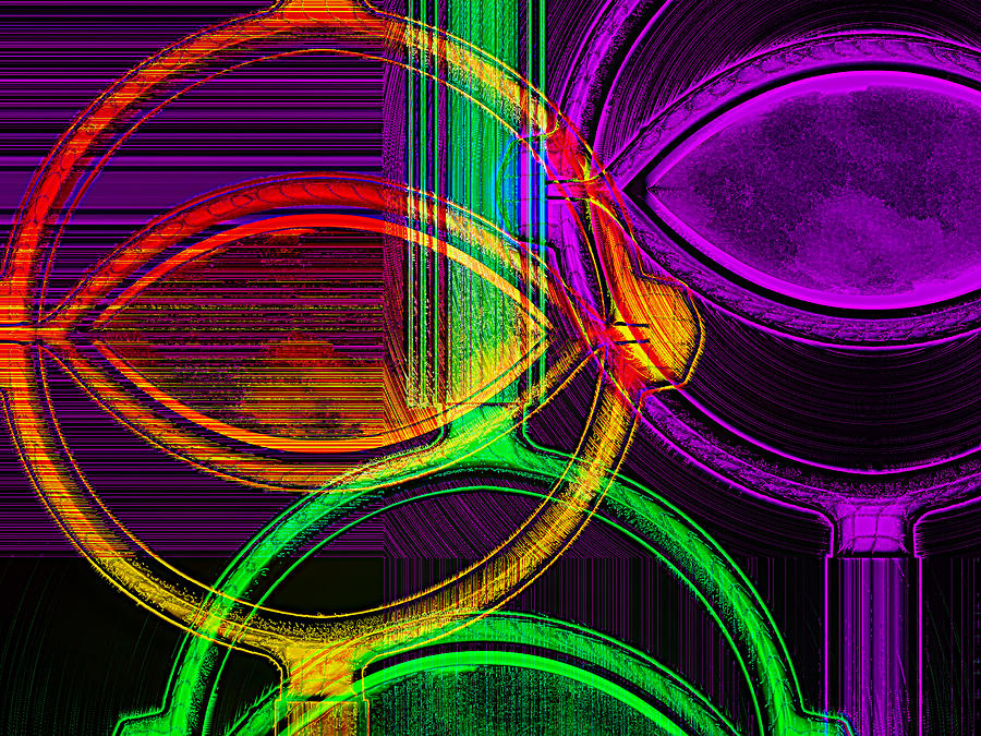 Abstract Digital Art - Brights by Wendy J St Christopher