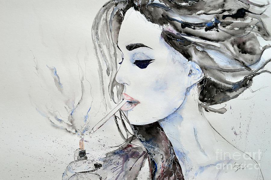 Brigitte Bardot Painting - Brigitte Bardot by Ismeta Gruenwald