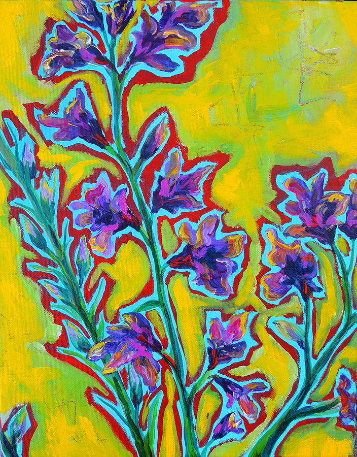 Bright Flowers Painting - Brilla by Dawn Gray Moraga