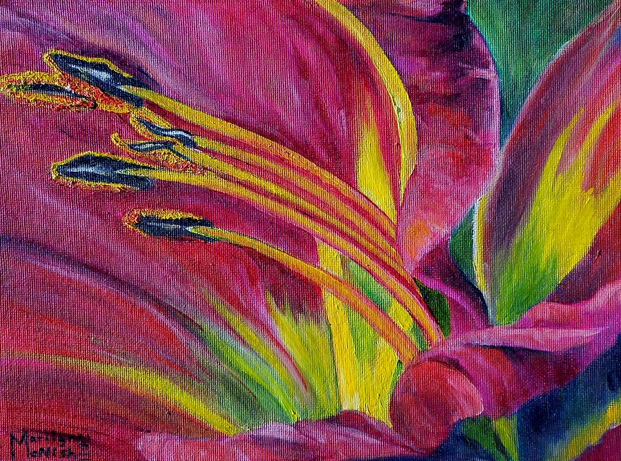 Hibiscus Painting - Brilliance Within by Marilyn  McNish