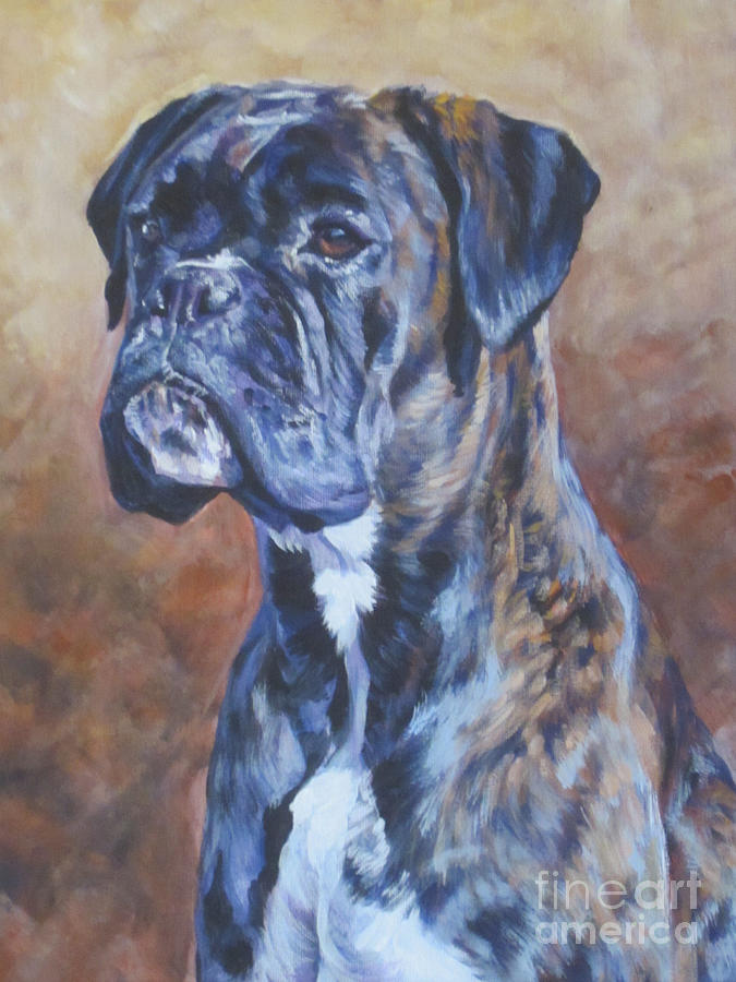 Brindle Boxer Painting by Lee Ann Shepard