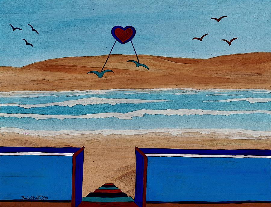 Bringing The Heart Home Painting - Bringing The Heart Home by Barbara St Jean