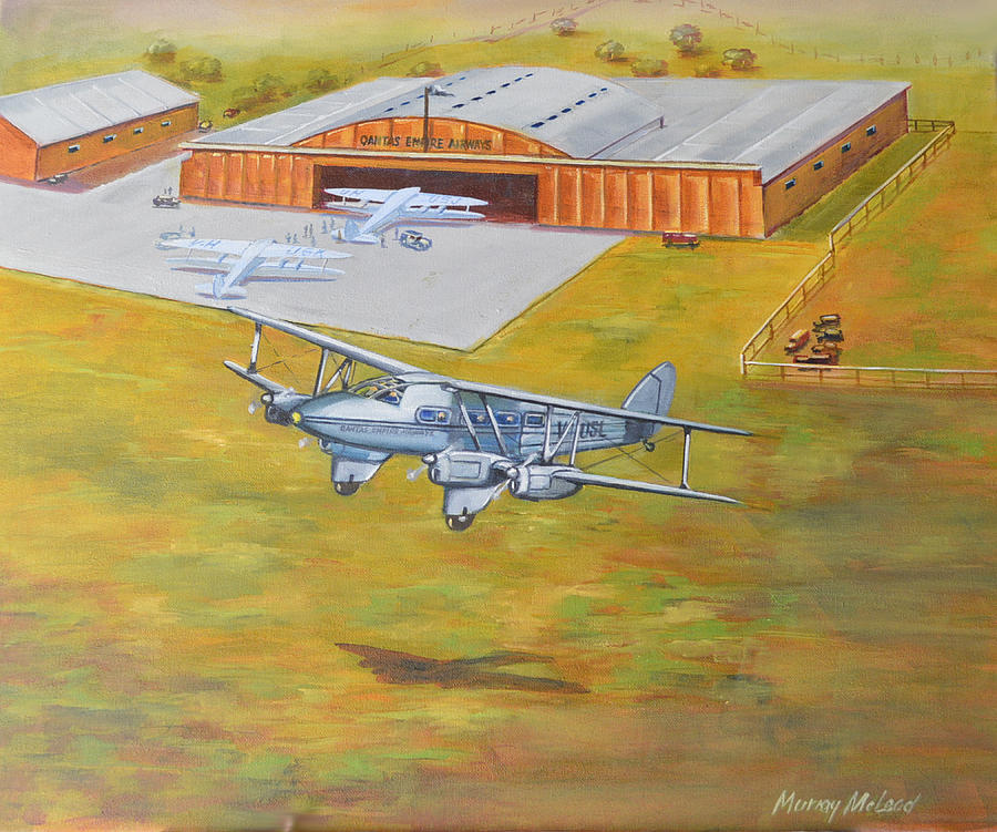 Dehavilland Painting - Brisbane Airport 1935 by Murray McLeod