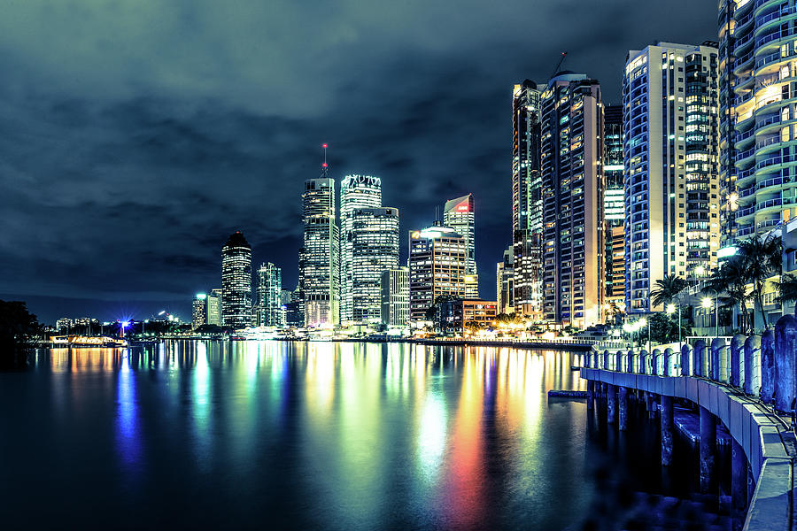Brisbane At Night, Australia Photograph by Lovro77
