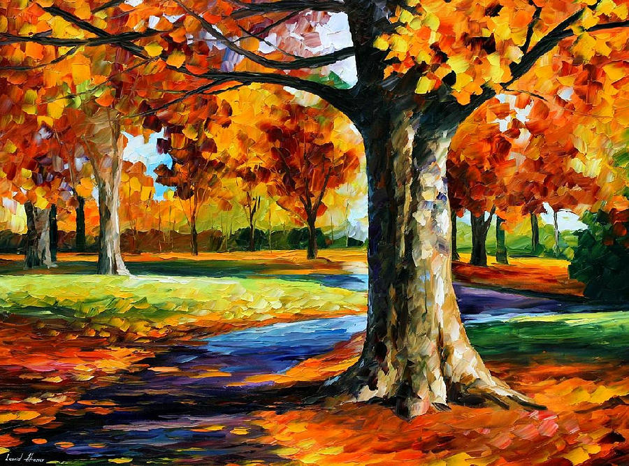 Bristol fall palette knife oil painting on canvas by for Fall paintings easy