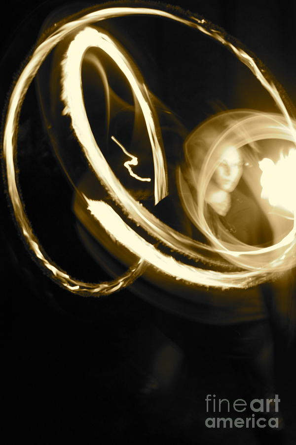 Fire Spin Photograph - Brit by Ashley Ordines