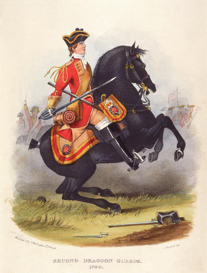 Military Drawing - Britain  A Member Of The Second Dragoon by Mary Evans Picture Library