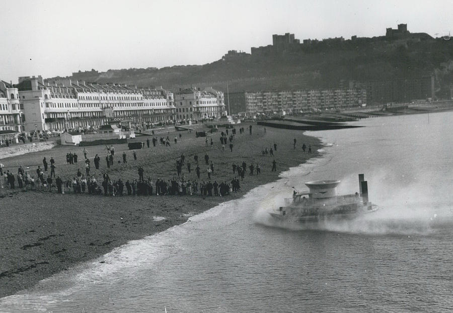 Retro Photograph - Britain's 'flying Saucer' Cross The Channel. by Retro Images Archive