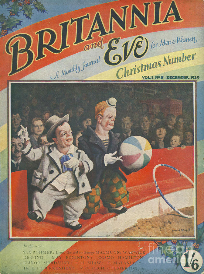 1920s Drawing - Britannia & Eve 1929 1920s Uk Dwarves by The Advertising Archives