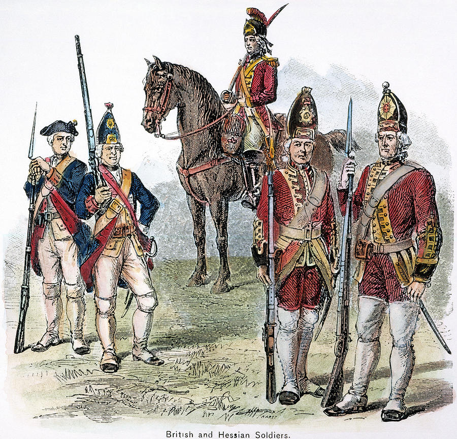 18th Century Photograph - British & Hessian Soldiers by Granger