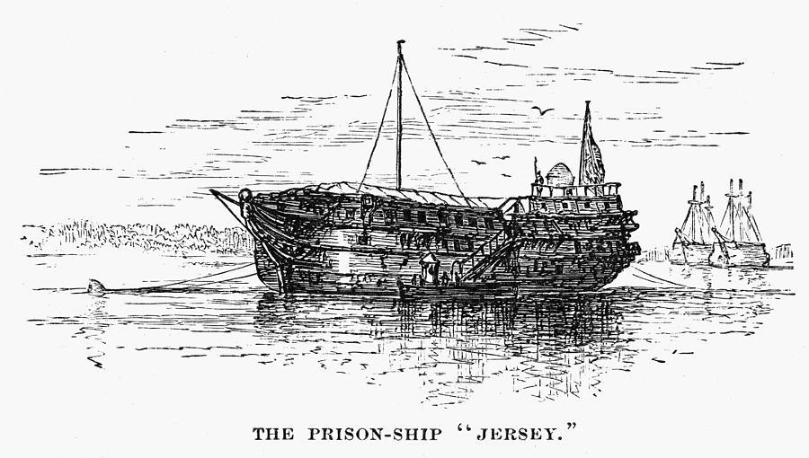 1770s Photograph - British Prison Ship, 1770s by Granger