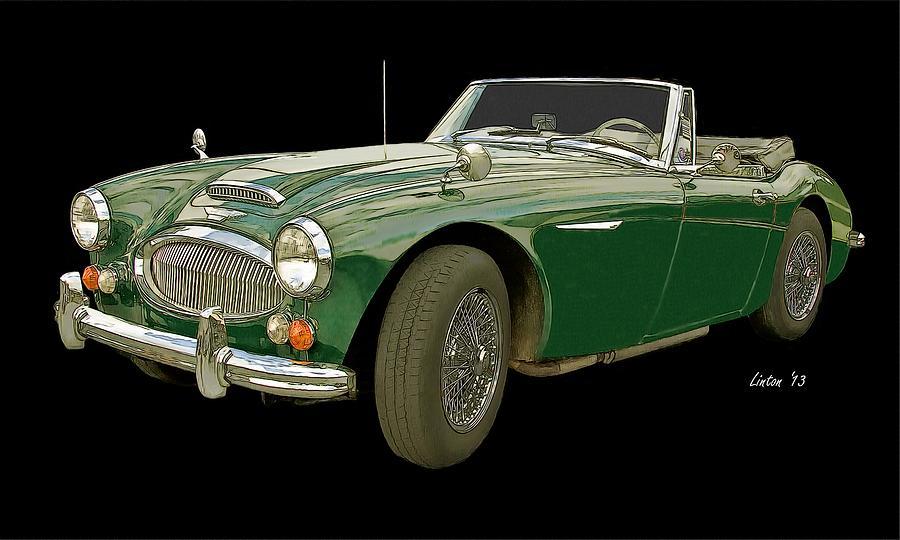 Austin Healey 3000 Digital Art - British Racing Green by Larry Linton