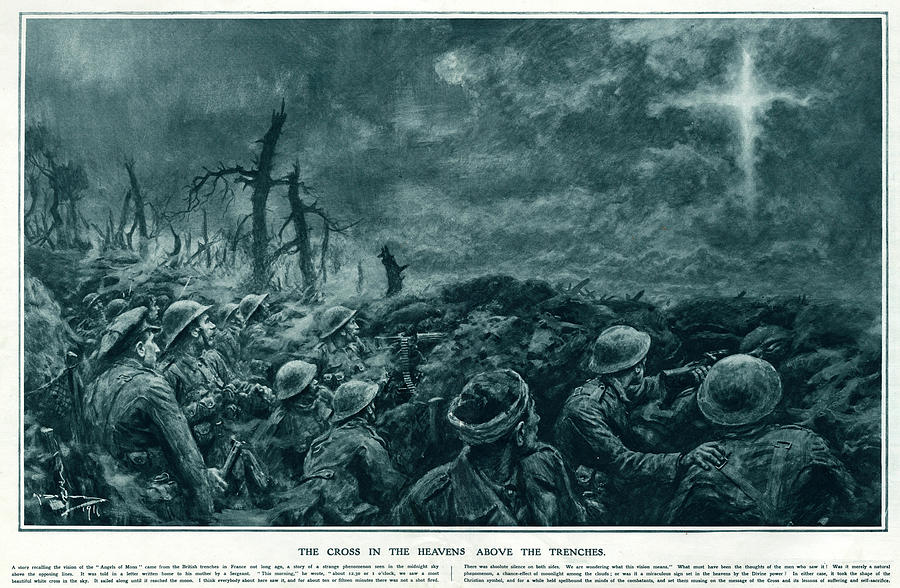 Cross Drawing - British Troops See The Cross Of Jesus by  Illustrated London News Ltd/Mar