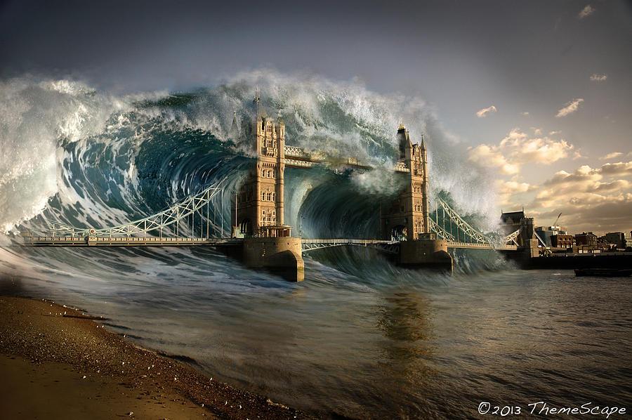 London Digital Art - British Tsunami by T Dilley