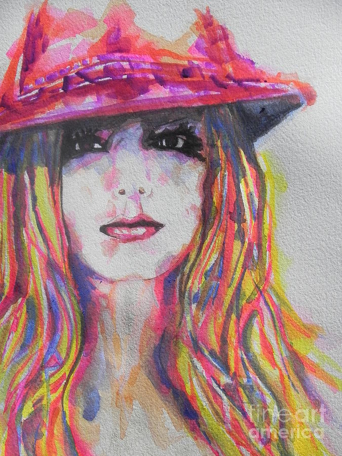 Watercolor Painting Painting - Britney Spears by Chrisann Ellis