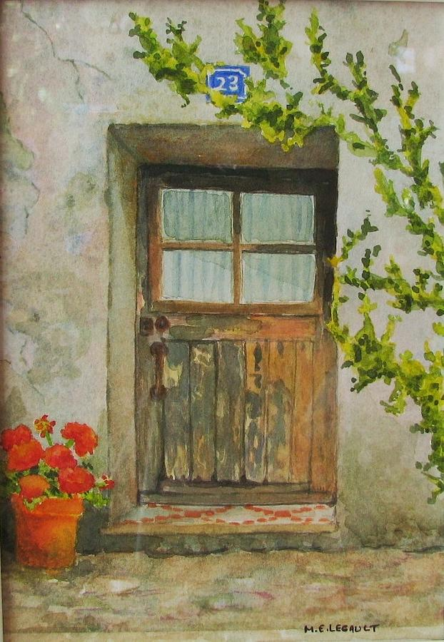 Door Painting - Brittany  Door by Mary Ellen Mueller Legault