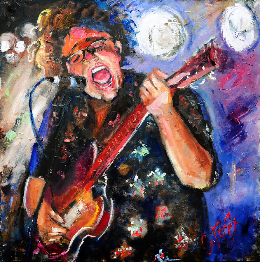 Brittany Painting - Brittany Howard Of The Alabama Shakes by Carole Foret
