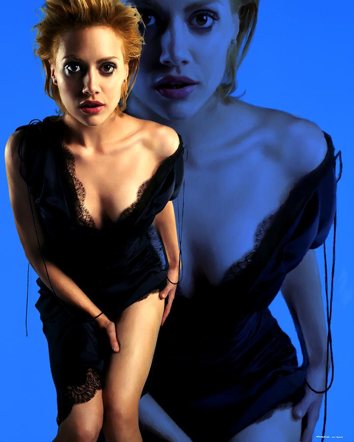 Actress Digital Art - Brittany Murphy Tribute 2 by Gabriel T Toro