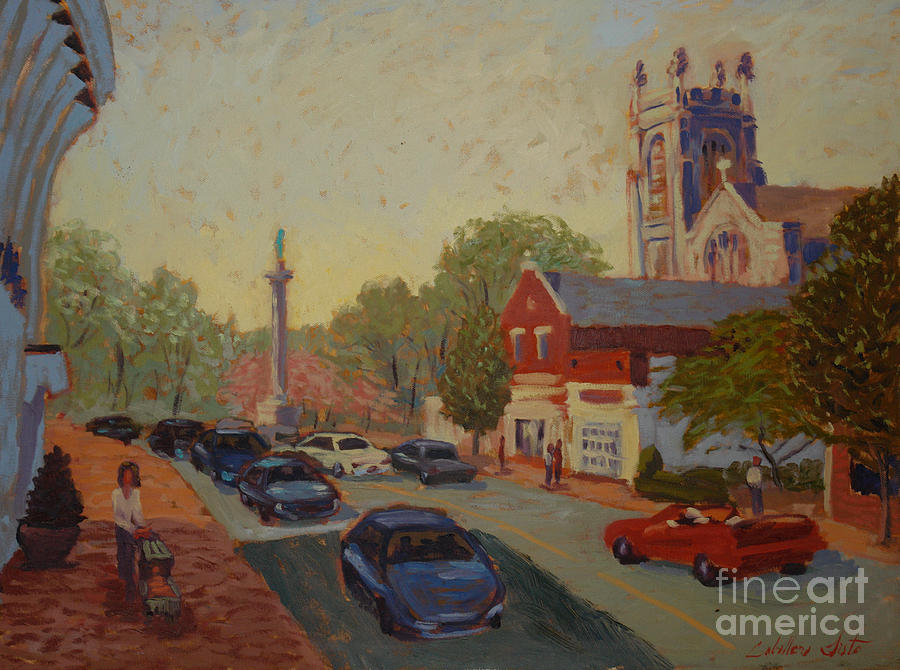 Landscape Painting - Broad St Westfield  by Monica Caballero