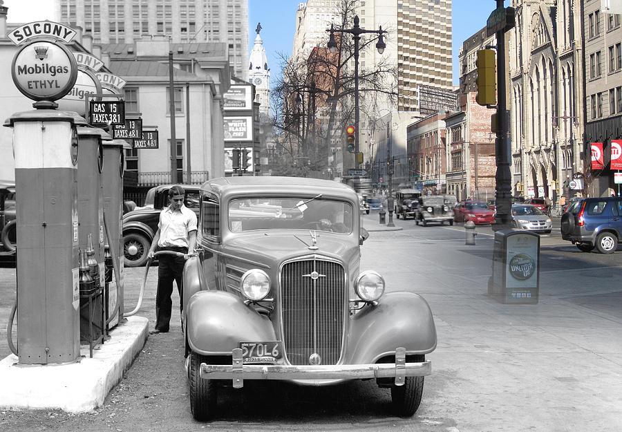 Philadelphia Photograph - Broad Street Socony by Eric Nagy