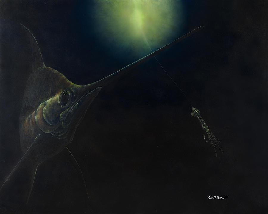 Swordfish Painting - Broadbill Nights by Kevin Brant