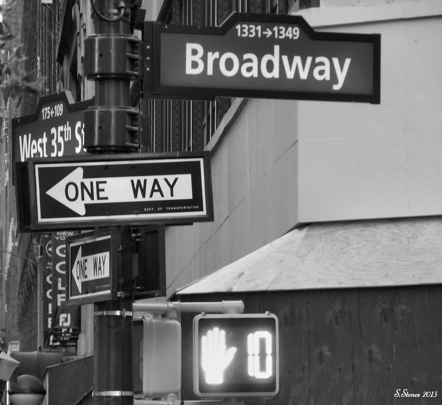 Broadway And West 35th St Photograph