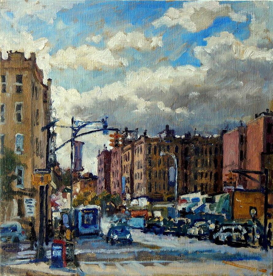 3 Piece Painting On Canvas Wall Art Nyc Street Lights New: Broadway Backlight New York City Painting By Thor Wickstrom