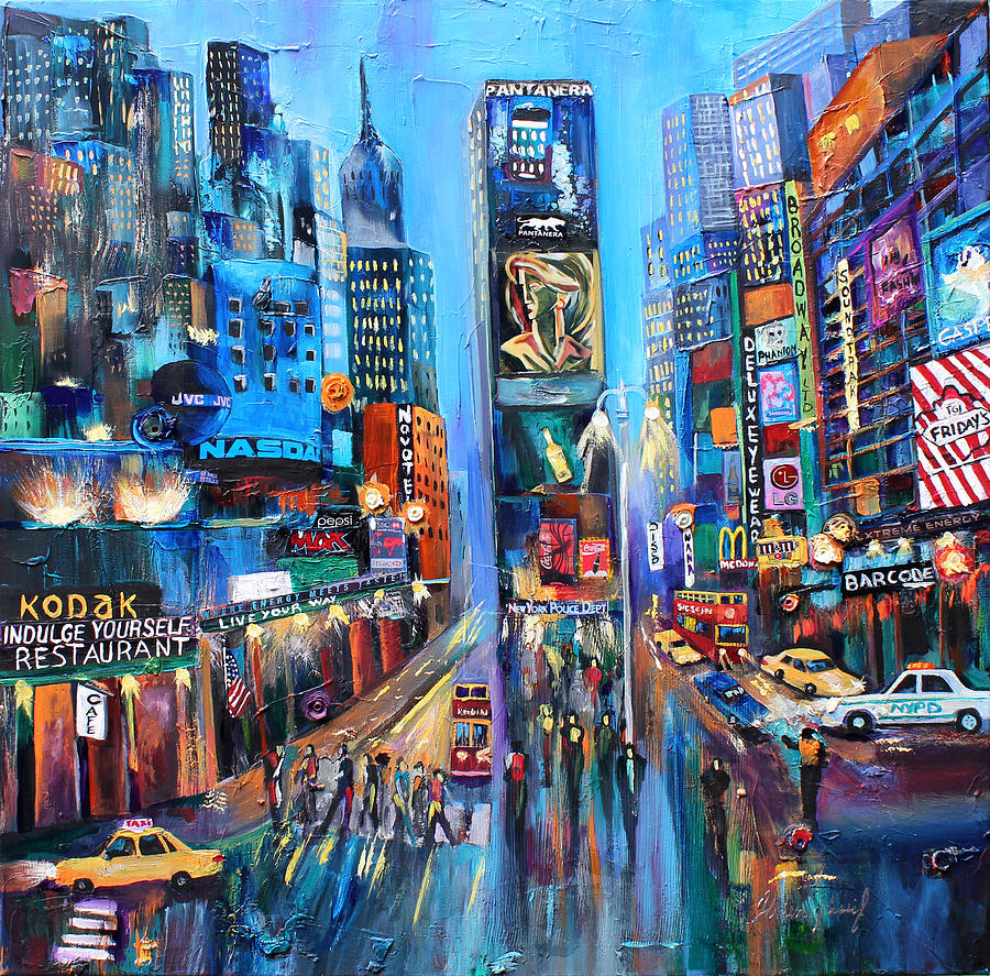 Broadway on my way painting by helene khoury nassif for Best way to sell art online