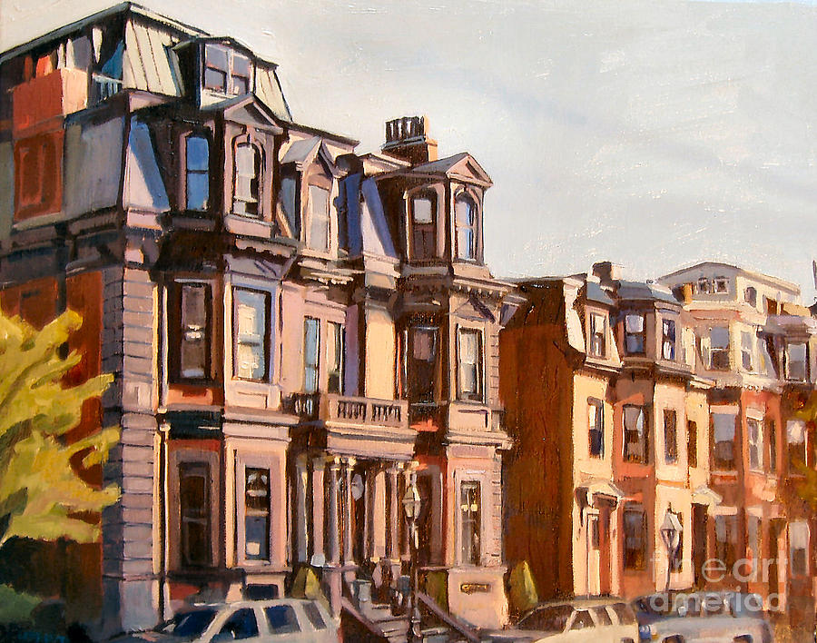 Southie Painting - Broadway View by Deb Putnam