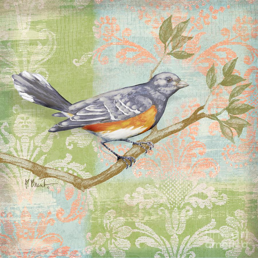 Fabric Painting - Brocade Songbird Iv by Paul Brent