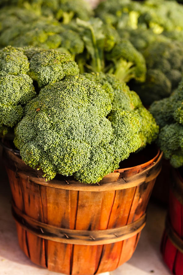 Agriculture Photograph - Broccoli In Baskets by Teri Virbickis