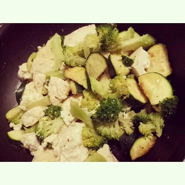Food Photograph - #broccoli #tofu #zucchini #stirfry by Crystal Chloe