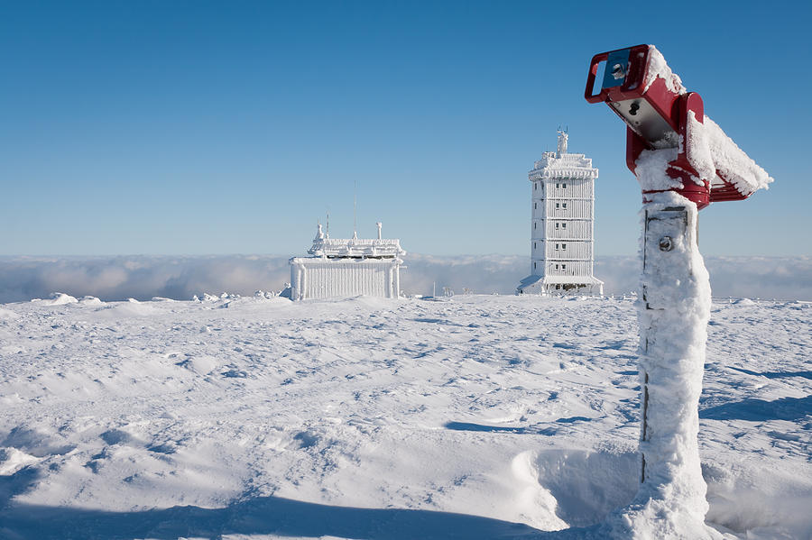 Schnee Photograph - Brocken In Winter by Andreas Levi