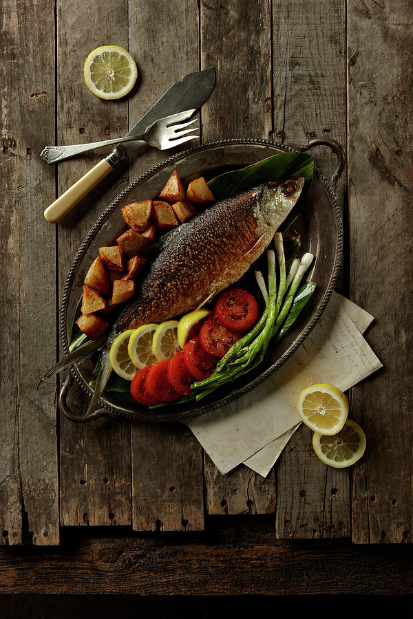 Broiled Fish Photograph by Lew Robertson