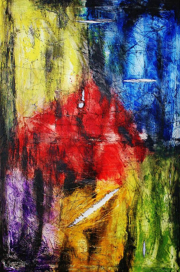 Abstract Painting - Broken 4 by Michael Cross