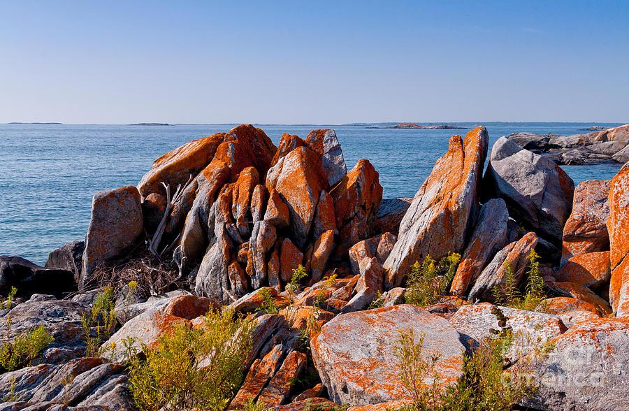 Rocks Photograph - Broken Boulders by Les Palenik