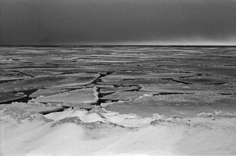 Ice Photograph - Broken by Brady D Hebert