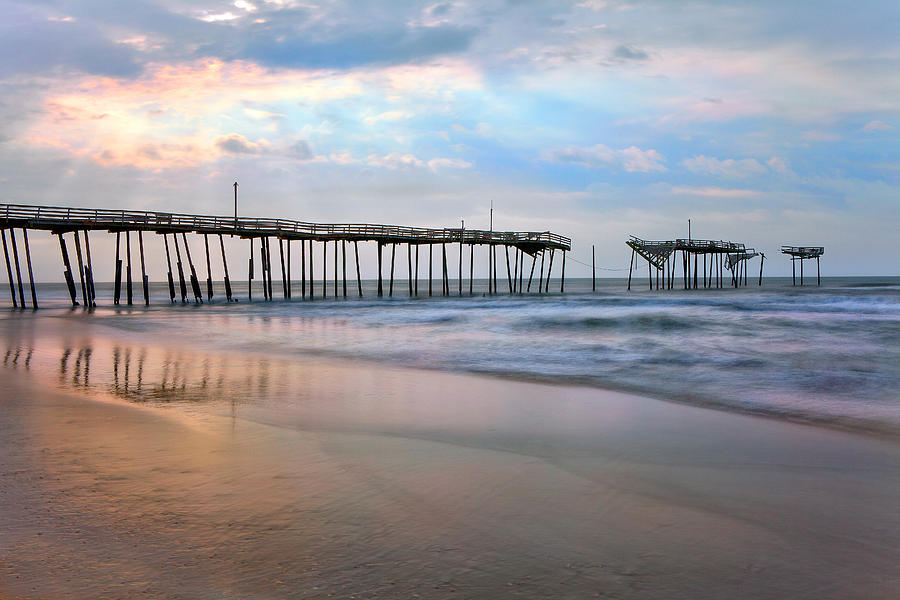 Outer Banks Photograph - Broken Dreams - Frisco Pier Outer Banks I by Dan Carmichael