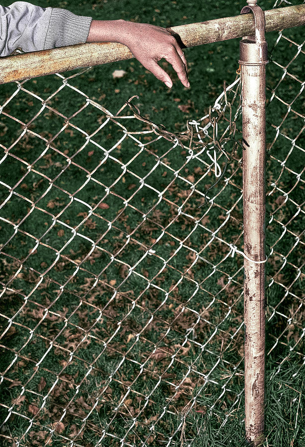 Single Hand Photograph - Broken Fence by Kellice Swaggerty