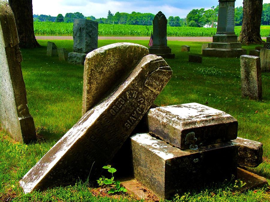 Grave Photograph - Broken Grave by Mark Malitz