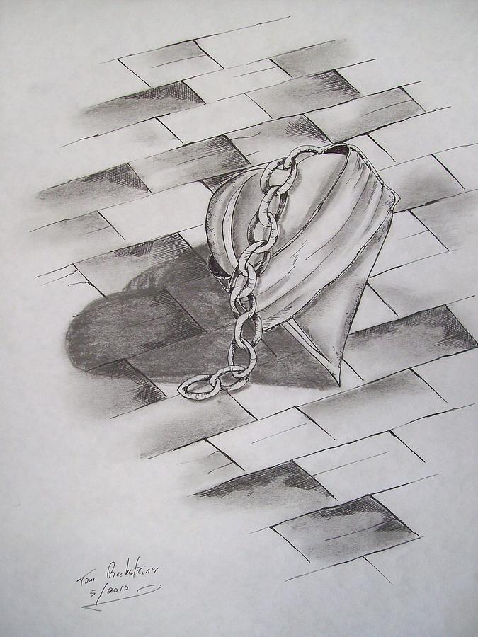 Heart Drawing - Broken Heart by Tom Rechsteiner
