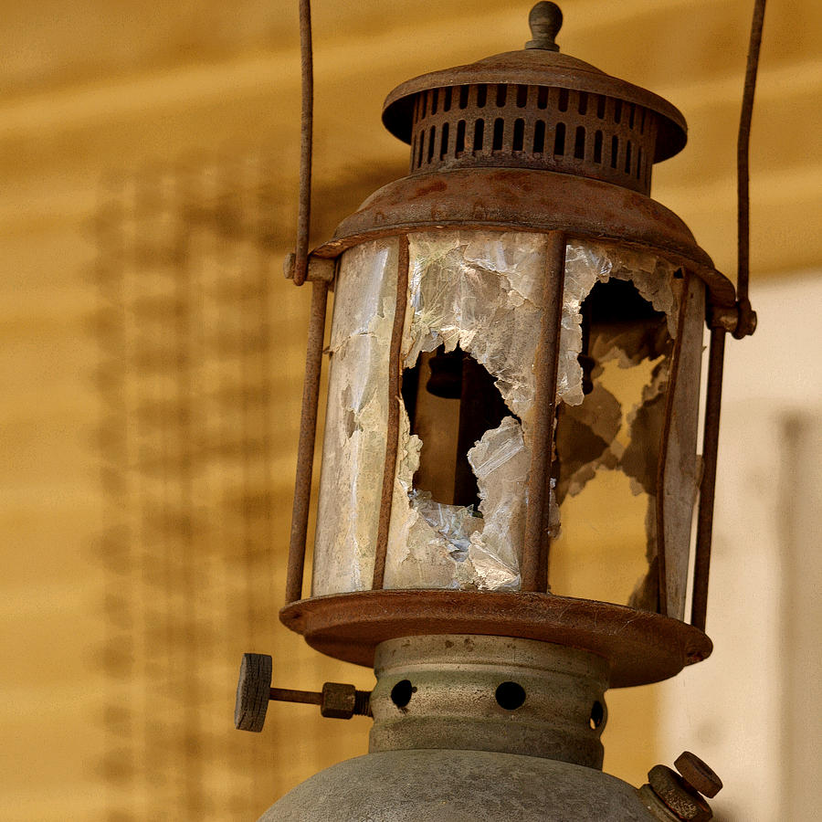 Lantern Photograph - Broken Lantern by Art Block Collections