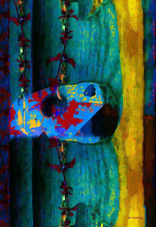 Guitar Painting - Broken Music by RC deWinter