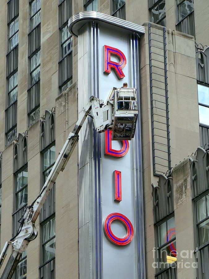 Radio City Music Hall Photograph - Broken Radio by Ed Weidman