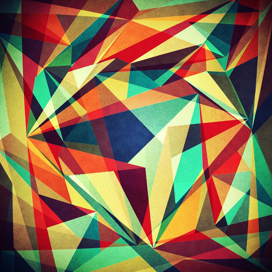 Abstract Digital Art - Broken Rainbow by Vess DSign