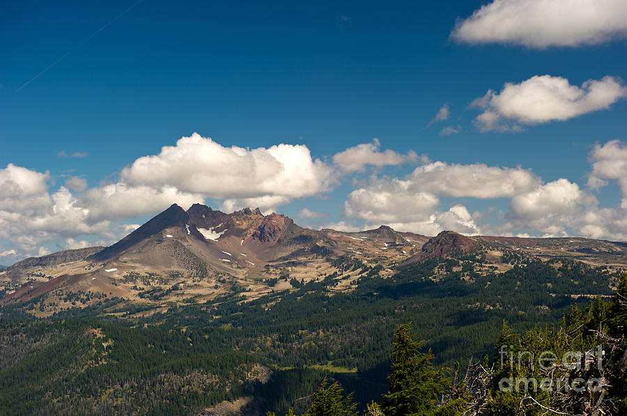 Mountains Photograph - Broken Top Mountain In Summer by Jackie Follett