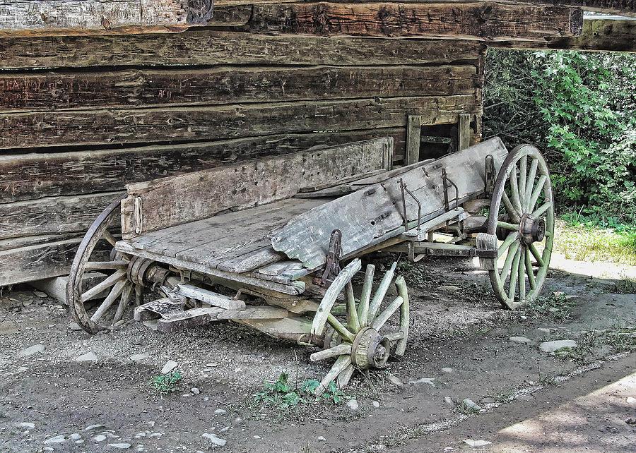 Broken Wheel Clip Art : Broken wagon photograph by victor montgomery
