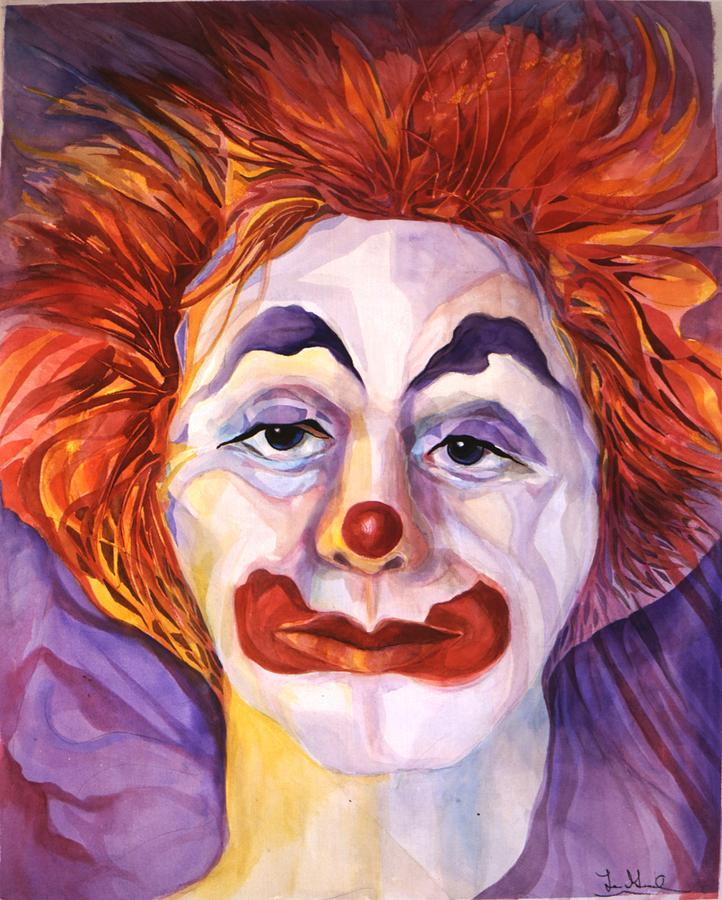 Clowns Painting - Brokenhearted by Carolyn LeGrand